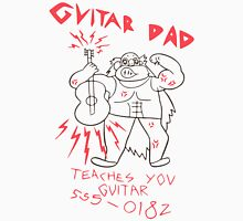High Quality Vector Guitar Dad, Teaches You Guitar  Unisex T-Shirt
