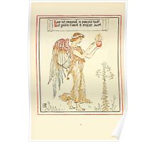 Queen Summer, or, The Tourney of the Lilly and the Rose by Walter Crane 1891 34 - Love not consumed in passion's heart Poster