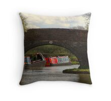 Bridge 23 Ashby Canal Throw Pillow