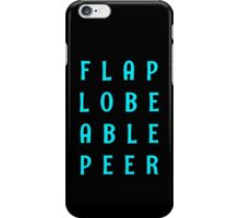 Flap Lobe Able Peer – Blue iPhone Case/Skin