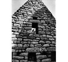 Hut in Window at Machu Picchu Photographic Print