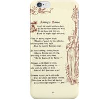 The Old Garden and Other Verses by Margaret Deland and Wade Campbell, Illustrated by Walter Crane 1894 113 - Springs Beacon iPhone Case/Skin