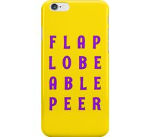 Flap Lobe Able Peer – Purple iPhone Case/Skin