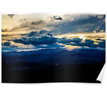Blue Ridge Mountians Sunset Poster