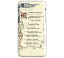 The Old Garden and Other Verses by Margaret Deland and Wade Campbell, Illustrated by Walter Crane 1894 112 - Bloodcoor Blossoms iPhone Case/Skin