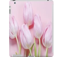 beautiful,pink,tulips,photo,girly,trendy,modern,fun,happy iPad Case/Skin