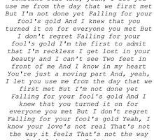 one direction fools gold lyrics  by heavenlymalik