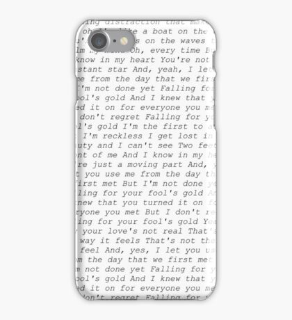 one direction fools gold lyrics  iPhone Case/Skin