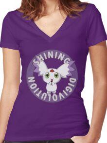 Shining Digivolution Women's Fitted V-Neck T-Shirt