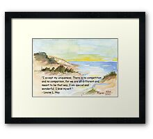 Affirmation to LOVE YOURSELF Framed Print