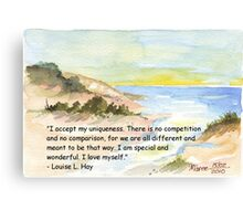 Affirmation to LOVE YOURSELF Canvas Print