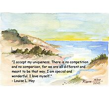 Affirmation to LOVE YOURSELF Photographic Print