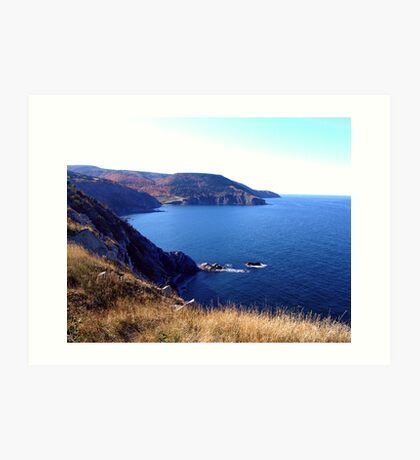 Cliffs of Meat Cove Art Print