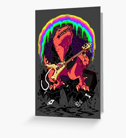 TyrannoRoxRemix Greeting Card