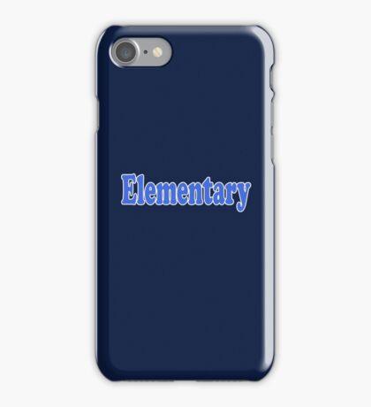 Elementary My Dear Watson - Sherlock Quote Sticker and T-Shirt iPhone Case/Skin