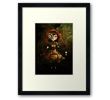 Leather and Linen Framed Print