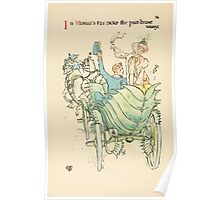 A flower wedding - Described by Two Wallflowers by Walter Crane 1905 70 - In Venus's Fly Trap the pair drove away Poster