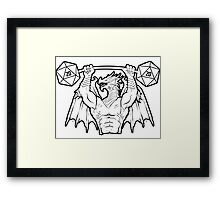 Ancient Swole Dragon Framed Print