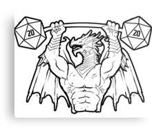 Ancient Swole Dragon Metal Print