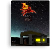 THE LAST CHANCE GAS Canvas Print