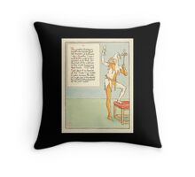 A Masque of Days - From the Last Essays of Elia 1901 illustrated by Walter Crane 41 - Quarter Days, April Fool, Forty Days, Easter Throw Pillow