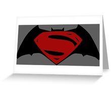 Batman v Superman Greeting Card