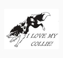 I LOVE MY COLLIE TRIBAL Kids Clothes