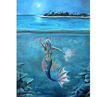 Mermaid collecting moonlight. Photographic Print