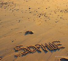 Sophie - Name In The Sand | Mattituck, New York by © Sophie W. Smith