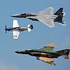 U.S.A.F. 60th Anniversary Heritage Flight 1947-2007 < by John Schneider
