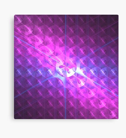 Shiny Purple Buttons | Future Art Fashion Canvas Print