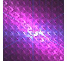 Shiny Purple Buttons | Future Art Fashion Photographic Print