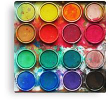 Paintbox Color Palette Canvas Print