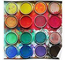 Paintbox Color Palette Poster