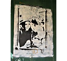 Unusual Poster and Graffiti On Abandoned Home Photographic Print