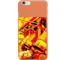 Abstracted Tubes in Yellow and Red iPhone Case/Skin
