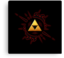 Zelda Triforce Gold Canvas Print
