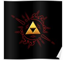 Zelda Triforce Gold Poster