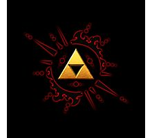 Zelda Triforce Gold Photographic Print