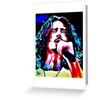 Chris Cornell with Mic Greeting Card