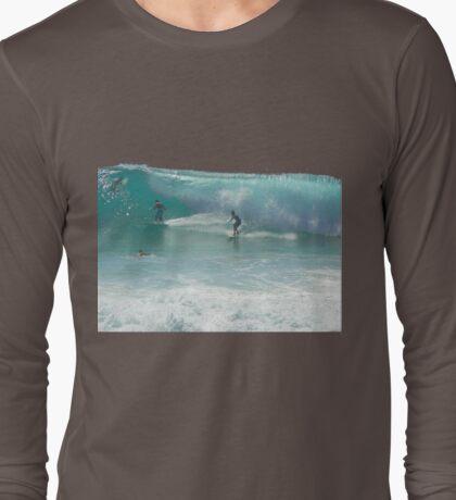 Surfing Burleigh Style #3  Long Sleeve T-Shirt