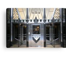 Art Deco Door, Chrysler Building, New York Canvas Print