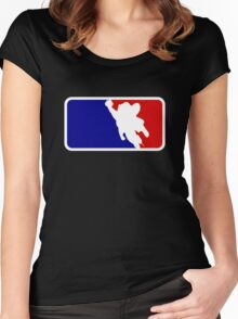 Mighty Mouse Baseball Women's Fitted Scoop T-Shirt