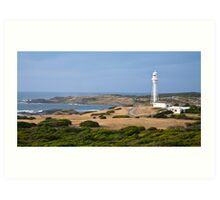 Currie Lighthouse and Harbour Art Print