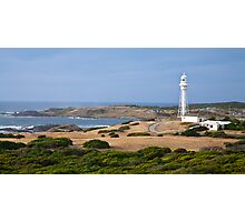 Currie Lighthouse and Harbour Photographic Print