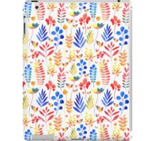 watercolor floral pattern iPad Case/Skin