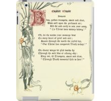 The Old Garden and Other Verses by Margaret Deland and Wade Campbell, Illustrated by Walter Crane 1894 208 - Easter Music iPad Case/Skin