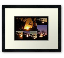 Marong Sunset Collage Framed Print