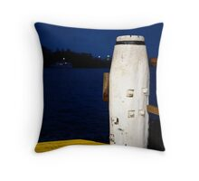 Wharf structure Throw Pillow