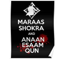 Keep Calm - Maraas Shokra and Anaan Esaam Qun Poster